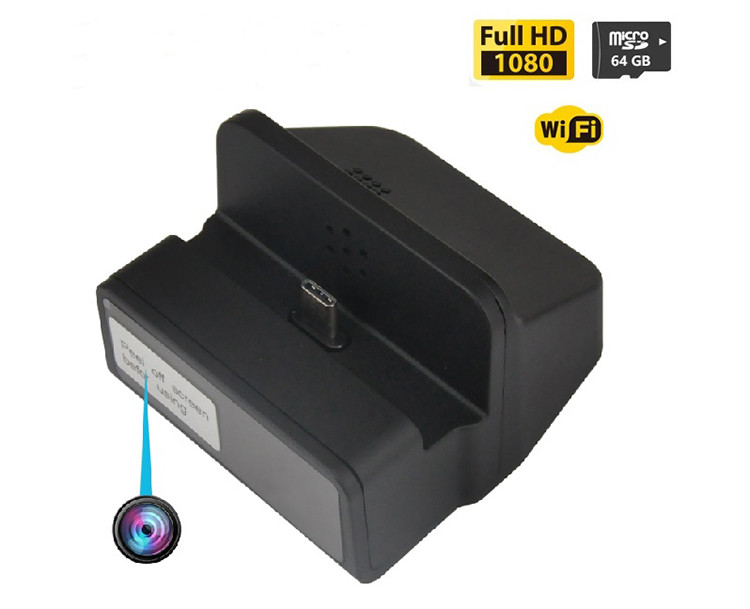 Wireless Wifi Spy Charging Dock Camera, Night Vision (SPY149)