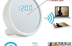 1920x1080P HD WiFi IP Network Hidden Camera Clock - 1 250px