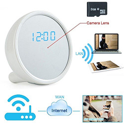 1920x1080P HD WiFi IP Rrjeti i fshehur Camera Clock (SPY146) - S $ 148