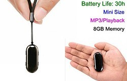 8GB Mini Pendant Voice Recorder, 30 Hrs Recording - 1 250px