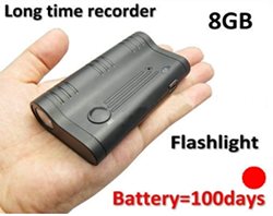 Long time LED magnet voice recorder, battery recording 100days (SPY143)