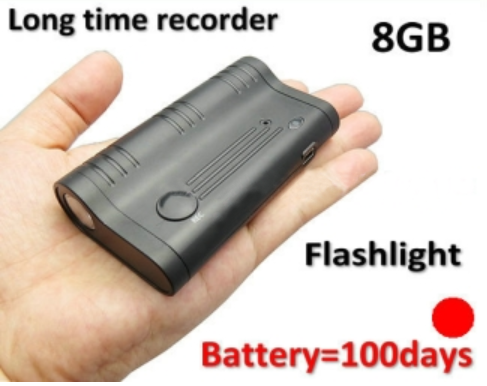 Long time LED magnet recording devices, battery recording 100days, Build in 8GB - 1