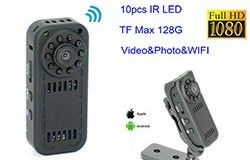 Mini Camera WIFI, HD1080P, Detection Motion, SD Card Max 128G - 1 250px