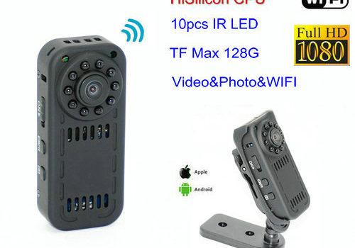 WIFI Mini Camera, HD1080P, Motion Detection, SD Card Max 128G - 1