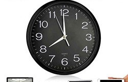 Wall Clock Spy Hidden Camera for home security with wireless monitoring - 1 250px