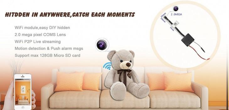 HD 1080P 2.0 mega WiFi Pinhole Camera - 1