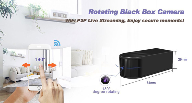 HD 1080P Mini Black Box WiFi Camera - 1