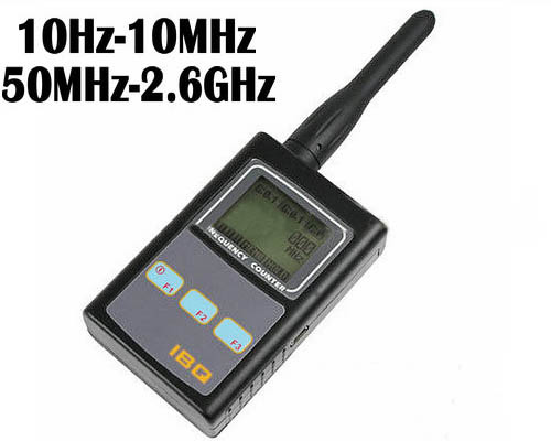 Portable Frequency Counter, 10Hz-100MHz & 50Mhz-2.6Ghz, LCD ekraan (SPY997)