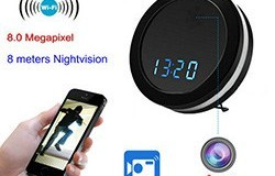Night Spiegel WIFI Clock Kamera, Zwee Wee Gespréich, Super Nightvision - 1 250px