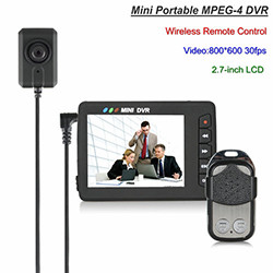 ກ້ອງຖ່າຍວິດີໂອ Mini Portable Button DVR, Remote Control Remote (SPY178)