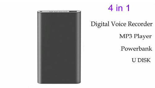 Power Bank Digital Voice Recorder, 6500mAh, 16G-1