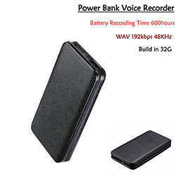 Powerbank Voice Recorder, Recording Time 600hours, Build in 32G (SPY181)