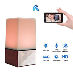 WIFI Color Light Camera DVR, HD1080P / H.264, Batipi 3500mAh, Auala e Lua (SPY172) - S $ 248