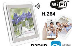 1080P H.264 WIFI Mirror Clock Camera, Pule APP, TF Card, Lafo Faʻatino - 1 250px