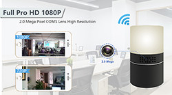 HD 1080P Desk Lamp Security Wi-Fi Camera - 1 250px