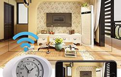 Hidden Spy Camera 1080P HD Wireless Wifi IP Camera White Clock - 1 250px