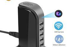 WiFi Spy Hidden 5-USB Port Charger Camera, Motion Detection, Loop Record, Phone Charging - 1 250px