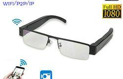WIFI Glasses Camera, HD 1080P, WIFI, P2P, IP - 1 250px