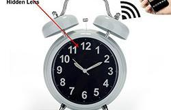 WIFI Tersembunyi Spy Camera Alarm Clock, Home Security Camera Loop Video Recorder - 1 250px