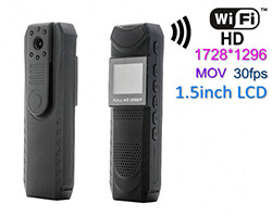 Kamera Penguatkuasaan Undang-undang WIFI, Video 1728 * 1296 30fps, H.264, 940NM Nightvision (SPY186) - S $ 248