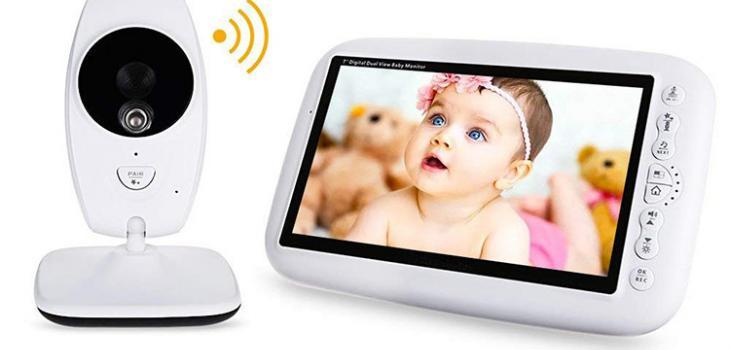 Baby Elderly Monitor Dengan Kamera 7 Layar LCD Besar