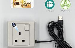 Single Gang WIFI Wall formohem Socket Outlet SPY Kamera fshehur - 1 250px