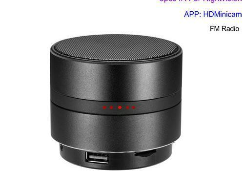 WIFI Network Bluetooth Speaker Camera, HD 4K Video, Max 128G SD Card - 1