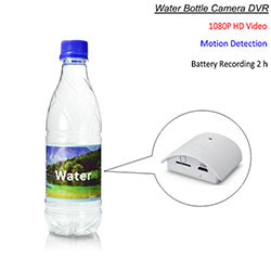 Water Bottle Camera, HD 1080P, Motion Detection, Battery Time of Recording 2 hours (SPY207)