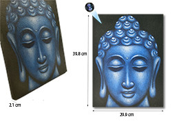 Blue Buddha Face Oil Paint Spy Hidden Camera, 70hrs recording, 100hrs standby (SPY232A)