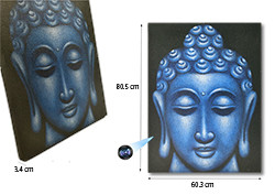 Large Blue Buddha Face Oil Paint Spy Hidden Camera, 70hrs recording, 100hrs standby (SPY232L)