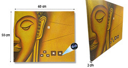 Yellow Buddha Face Oil Paint Spy Hidden Camera, 70hrs recording, 100hrs standby (SPY232E) – SOLD OUT