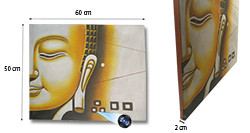 Yellow Buddha Face Oil Paint Spy Hidden Camera, 70hrs recording, 100hrs standby (SPY232H)