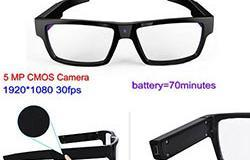 Spectacles Spy Camera DVR, 5.0MP CMOS1080P30fps 120Degree - 1 250px
