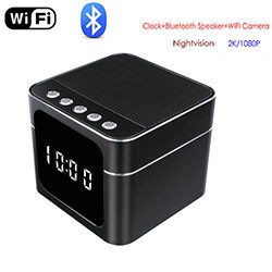 ໂມງ WIFI Bluetooth Speaker ພ້ອມ Nightvision (SPY237)
