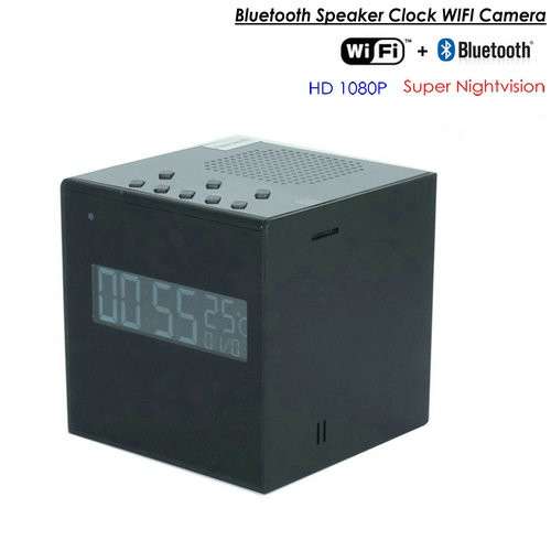 Ora Bluetooth Speaker Clock WIFI Kamera, Super Nightvision - 1