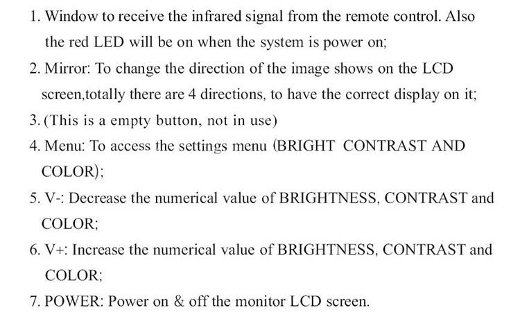 Ceamara Cigireachta Píopa le scáileán LCD Digiteach 7 '' - 4