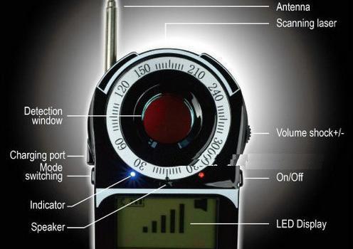 SPY Camera Detector - SignalLens Detector, Range 1-650 - 1