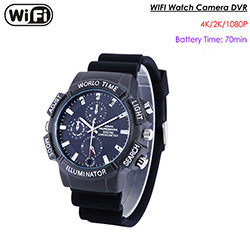 WIFI SPY Watch Hidden Camera, SD Card Max 128G, Nightvision (SPY244)