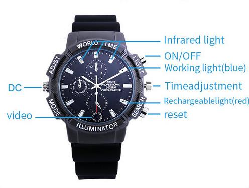 WIFI SPY Watch Թաքնված տեսախցիկ, SDCard Max 128G, Nightvision - 4