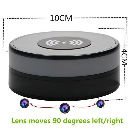 Wireless Charger WIFI Hidden SPY Camera, 180 Deg Rotation Lens - 4
