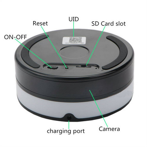 Wireless Charger WIFI Hidden SPY Camera, 180 Deg Rotation Lens - 6