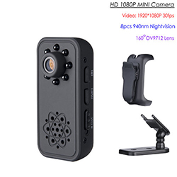 HD SPY Hidden Mini Camera, Super Nightvision, Brathadán Tairisceana, 3H Battery (SPY251) - S $ 198