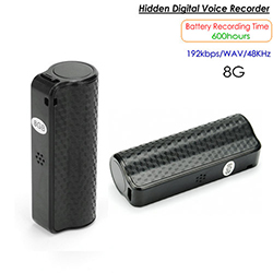 A scuffa di u Voice Recorder, 600 Hrs, Built-in 8G (SPY252)
