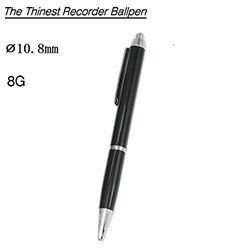 Voice Recorder Ballpoint Pen, Battery 13 Hours, 8G (SPY253)