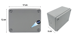 HDB PVC Elektriese Junction Enclosure Spatborddigte Box Spy Versteekte Camera (SPY254) - S $ 298
