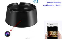 WIFI Ashtray Camera, 4K2K1080P Taimi o Taimi Batiri 18hours, Card SD Max 128GB - 1 250px