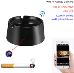 WIFI Ashtray Camera, 4K/2K/1080P Battery Working Time 18hours, SD Card Max 128GB (SPY264)