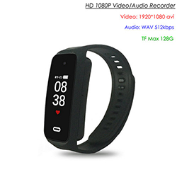 Wristband Spy Hidden Camera, TF Max 128G, Taimi o Taimi 90min (SPY258) - S $ 168