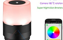WIFI Lamp Camera, HD 1080P, 180 Deg Camera Rotation, Super Nightvision-1 250px
