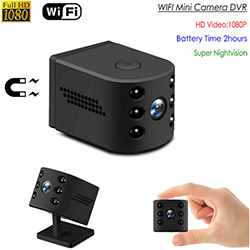 Ceamara Mini WIFI, HD1080P / H.264, WIFI / P2P / IP, Nightvision, TF Max 128G, Mionmhéid (SPY274) - S $ 178
